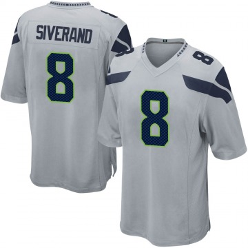 Youth Nike Seattle Seahawks Kemah Siverand Gray Alternate Jersey - Game
