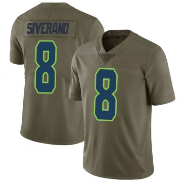 Youth Nike Seattle Seahawks Kemah Siverand Green 2017 Salute to Service Jersey - Limited
