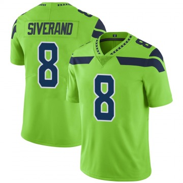 Youth Nike Seattle Seahawks Kemah Siverand Green Color Rush Neon Jersey - Limited