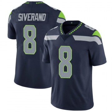 Youth Nike Seattle Seahawks Kemah Siverand Navy 100th Vapor Jersey - Limited