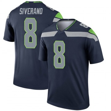 Youth Nike Seattle Seahawks Kemah Siverand Navy Jersey - Legend