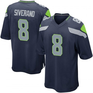 Youth Nike Seattle Seahawks Kemah Siverand Navy Team Color Jersey - Game
