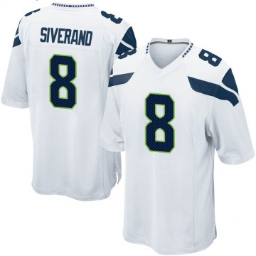 Youth Nike Seattle Seahawks Kemah Siverand White Jersey - Game
