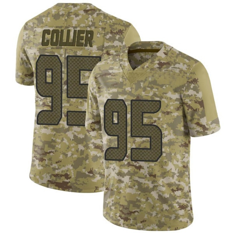 sale retailer 27274 c6363 Youth Nike Seattle Seahawks L.J. Collier Camo 2018 Salute to Service Jersey  - Limited
