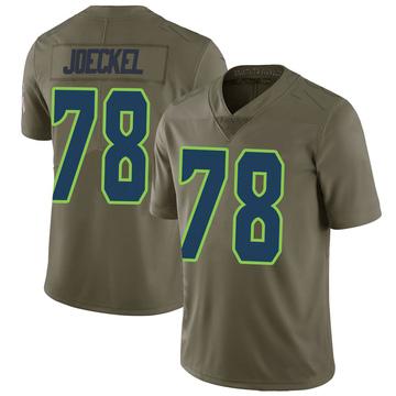 Youth Nike Seattle Seahawks Luke Joeckel Green 2017 Salute to Service Jersey - Limited