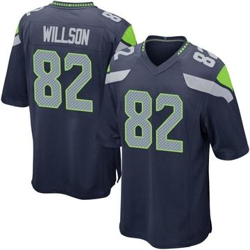 Youth Nike Seattle Seahawks Luke Willson Navy Team Color Jersey - Game