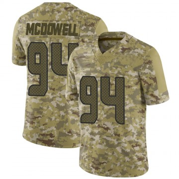 Youth Nike Seattle Seahawks Malik McDowell Camo 2018 Salute to Service Jersey - Limited