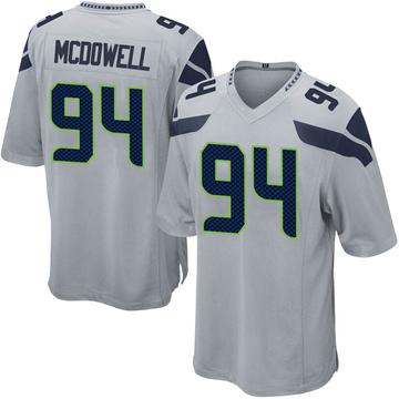 Youth Nike Seattle Seahawks Malik McDowell Gray Alternate Jersey - Game