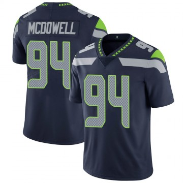 Youth Nike Seattle Seahawks Malik McDowell Navy 100th Vapor Jersey - Limited