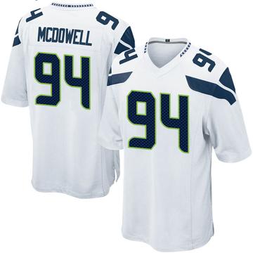 Youth Nike Seattle Seahawks Malik McDowell White Jersey - Game