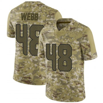 Youth Nike Seattle Seahawks Marcus Webb Camo 2018 Salute to Service Jersey - Limited