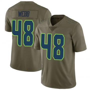 Youth Nike Seattle Seahawks Marcus Webb Green 2017 Salute to Service Jersey - Limited