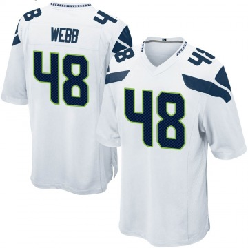Youth Nike Seattle Seahawks Marcus Webb White Jersey - Game