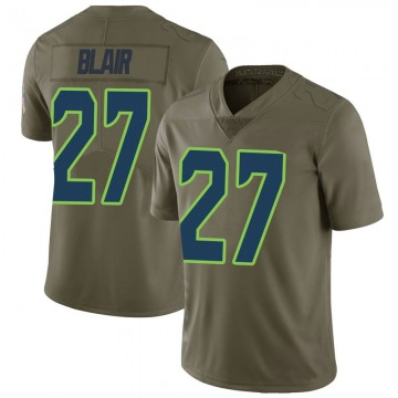 Youth Nike Seattle Seahawks Marquise Blair Green 2017 Salute to Service Jersey - Limited