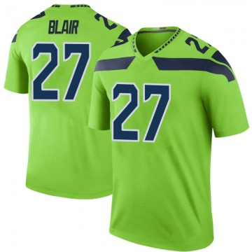 Youth Nike Seattle Seahawks Marquise Blair Green Color Rush Neon Jersey - Legend