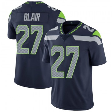 Youth Nike Seattle Seahawks Marquise Blair Navy 100th Vapor Jersey - Limited