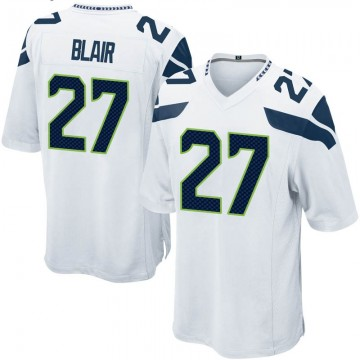 Youth Nike Seattle Seahawks Marquise Blair White Jersey - Game