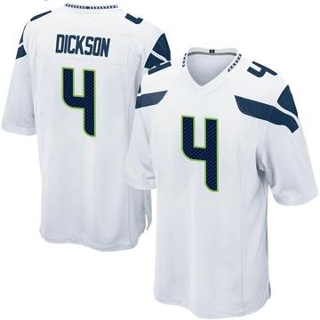 Youth Nike Seattle Seahawks Michael Dickson White Jersey - Game