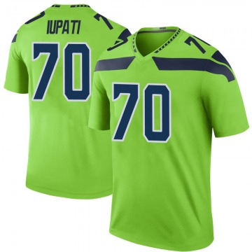 Youth Nike Seattle Seahawks Mike Iupati Green Color Rush Neon Jersey - Legend