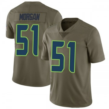 Youth Nike Seattle Seahawks Mike Morgan Green 2017 Salute to Service Jersey - Limited