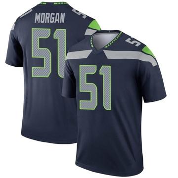 Youth Nike Seattle Seahawks Mike Morgan Navy Jersey - Legend