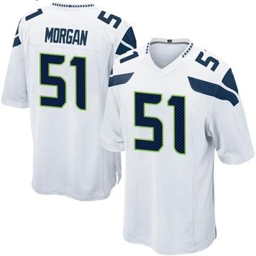 Youth Nike Seattle Seahawks Mike Morgan White Jersey - Game