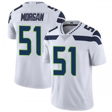 Youth Nike Seattle Seahawks Mike Morgan White Vapor Untouchable Jersey - Limited