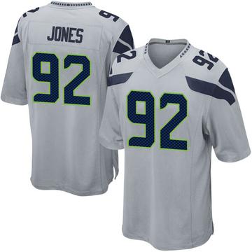 Youth Nike Seattle Seahawks Nazair Jones Gray Alternate Jersey - Game