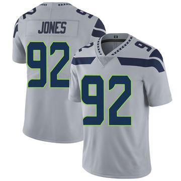 Youth Nike Seattle Seahawks Nazair Jones Gray Alternate Vapor Untouchable Jersey - Limited