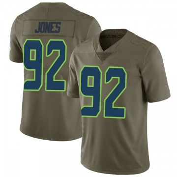 Youth Nike Seattle Seahawks Nazair Jones Green 2017 Salute to Service Jersey - Limited