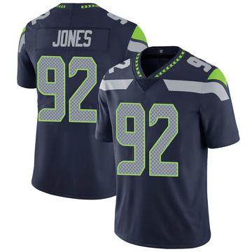 Youth Nike Seattle Seahawks Nazair Jones Navy 100th Vapor Jersey - Limited