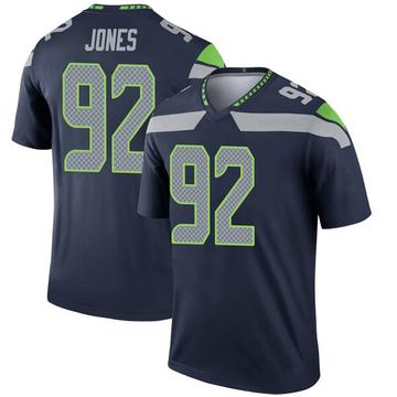 Youth Nike Seattle Seahawks Nazair Jones Navy Jersey - Legend