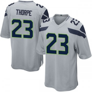 Youth Nike Seattle Seahawks Neiko Thorpe Gray Alternate Jersey - Game