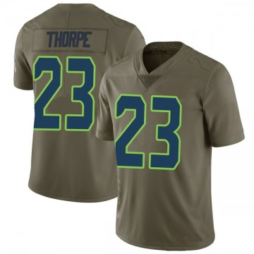 Youth Nike Seattle Seahawks Neiko Thorpe Green 2017 Salute to Service Jersey - Limited