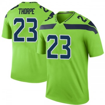 Youth Nike Seattle Seahawks Neiko Thorpe Green Color Rush Neon Jersey - Legend