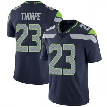 Youth Nike Seattle Seahawks Neiko Thorpe Navy Team Color Vapor Untouchable Jersey - Limited