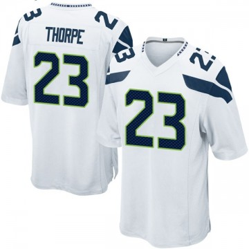 Youth Nike Seattle Seahawks Neiko Thorpe White Jersey - Game