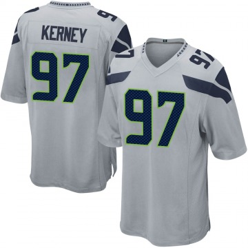 Youth Nike Seattle Seahawks Patrick Kerney Gray Alternate Jersey - Game