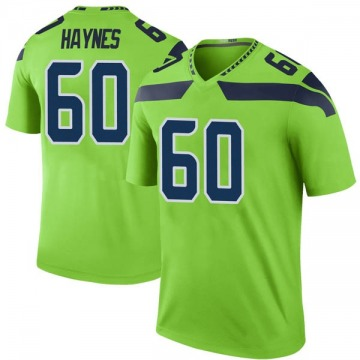Youth Nike Seattle Seahawks Phil Haynes Green Color Rush Neon Jersey - Legend