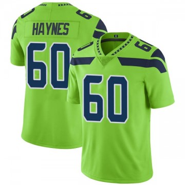 Youth Nike Seattle Seahawks Phil Haynes Green Color Rush Neon Jersey - Limited