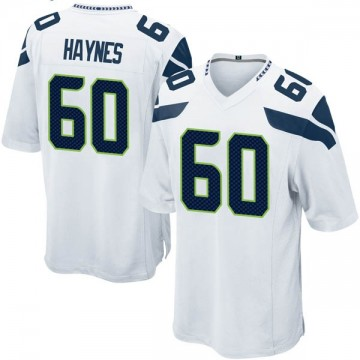 Youth Nike Seattle Seahawks Phil Haynes White Jersey - Game