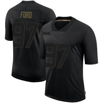 Youth Nike Seattle Seahawks Poona Ford Black 2020 Salute To Service Jersey - Limited