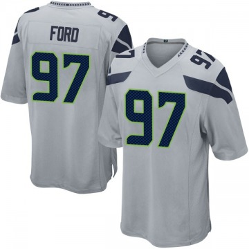 Youth Nike Seattle Seahawks Poona Ford Gray Alternate Jersey - Game