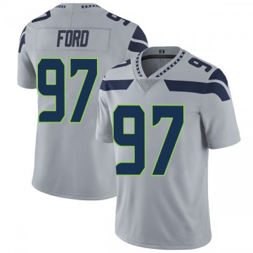Youth Nike Seattle Seahawks Poona Ford Gray Alternate Vapor Untouchable Jersey - Limited