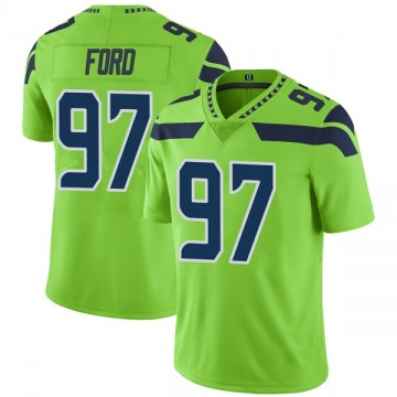 Youth Nike Seattle Seahawks Poona Ford Green Color Rush Neon Jersey - Limited