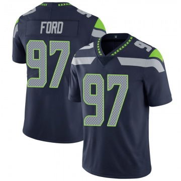 Youth Nike Seattle Seahawks Poona Ford Navy 100th Vapor Jersey - Limited