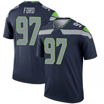 Youth Nike Seattle Seahawks Poona Ford Navy Jersey - Legend