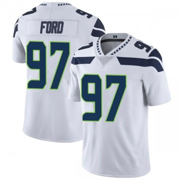 Youth Nike Seattle Seahawks Poona Ford White Vapor Untouchable Jersey - Limited