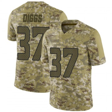 Youth Nike Seattle Seahawks Quandre Diggs Camo 2018 Salute to Service Jersey - Limited