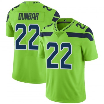 Youth Nike Seattle Seahawks Quinton Dunbar Green Color Rush Neon Jersey - Limited
